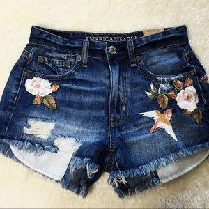 Vintage Hi-Rise Festival Jean Shorts Size 00